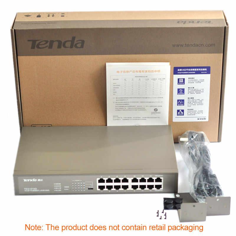 テンダ TEG1016D 16 ポート 1000 Mbps Gigbit Ethnet ネットワークスイッチ、デスクトップ/ラックマウントデザイン、 MDI/MDIX 、 6KV 雷保護
