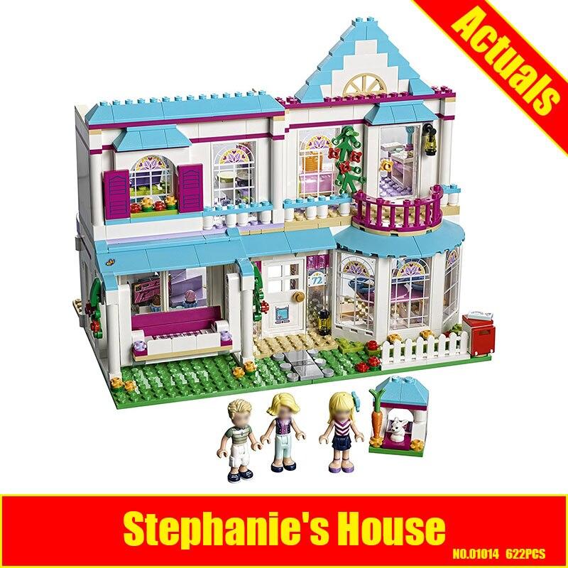 Lepin 01014 622Pcs Good Friend Girls Series Stephanies House Building Blocks Compatible 41314