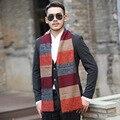 Cachecol de inverno Venda de Impressão Adulto Bufandas Os Novos 2016 dos homens Inverno Cachecol de caxemira Espessamento Masculino Europa E Bib Feitiço Vento cor