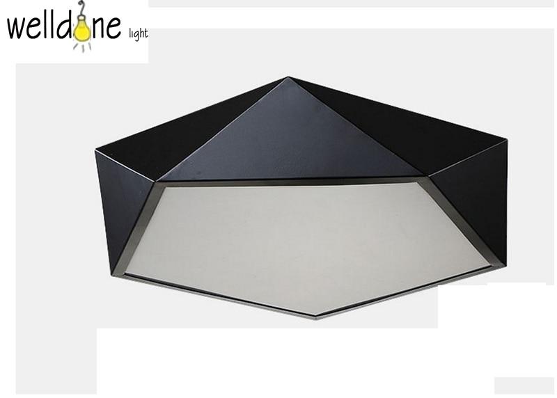 White black creative Simple style Led modern ceiling light geometrical ceiling light 85~265V for bedroom living room decor недорго, оригинальная цена
