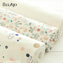 Buulqo New arrival 50x160cm Sanding knitting cotton baby infant underwear elastic fabric DIY sewing handmade cotton fabric
