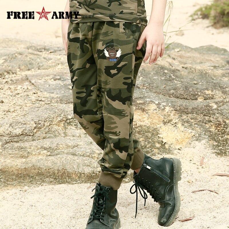 Nova marca Esportes Dos Miúdos Calças Spandex Camuflagem SweatPants Boy Militar Casual Dança Calças Camo Calças Adolescente Roupas Meninos