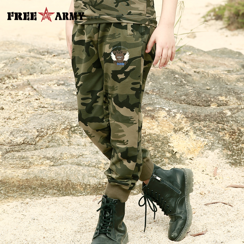 Brand New Sports Kids Spandex Pants Camouflage SweatPants Boy Military Casual Dancing Trousers Camo Pants Teenage Boys Clothing