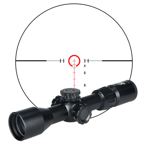 Canis Latrans Rifle Scopes 3-9x40 SFIRF Rifle Scope 30mm Tube Illuminated Red/Green Mil Dot Black For Outdoor Hunting Gs1-0285
