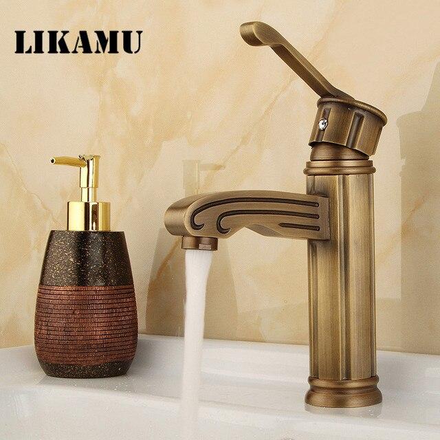 Free Shipping Antique Bronze Brass Faucet Bathroom Basin Single