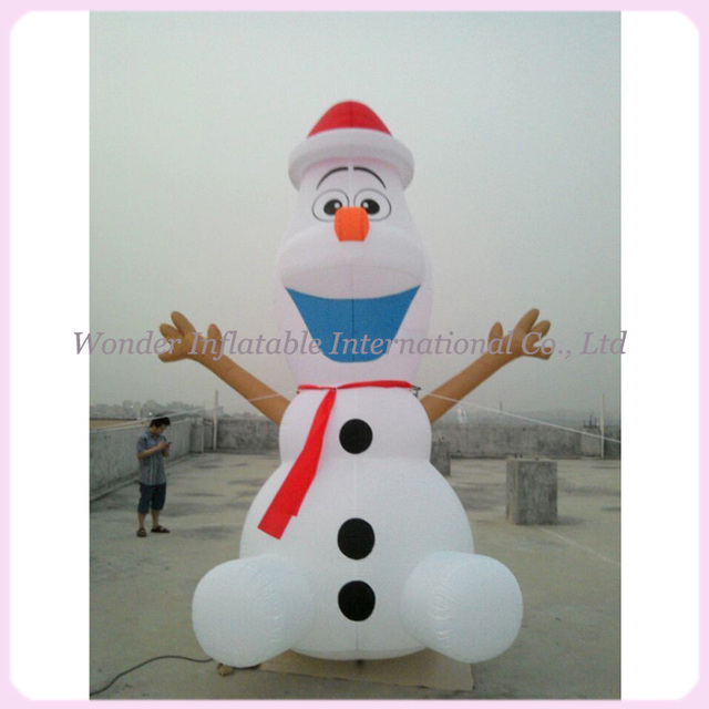 large airblown outdoor christmas inflatables olaf inflatable snowman - Olaf Outdoor Christmas Decoration