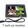 7 polegada display digital com controle remoto lcd monitor do carro pequeno para veículo universal invertendo backup de estacionamento câmera de visão traseira