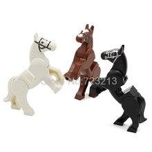 Cavalo de guerra para a Figura Set Acessórios Parte GOLPE Militar Modelo Kits de Blocos de Construção Tijolos Brinquedos para Crianças
