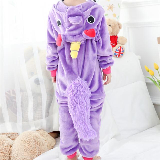 Girl Kigurumi Unicorn Cosplay Fancy Funny Soft Animal Costume Kid Anime Cartoon Easter Carnival Party OnePiece Onesie Disguise