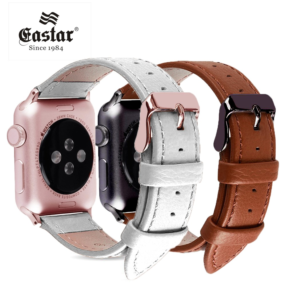 Black Pink Buckle Bracelet Genuine Leather Watchband For Apple Watch Band 42mm 38mm iWatch Accessories For Apple Watch Strap eastar genuine leather bracelet for apple watch band 42mm 38mm iwatch watch accessories for apple watch strap watchband