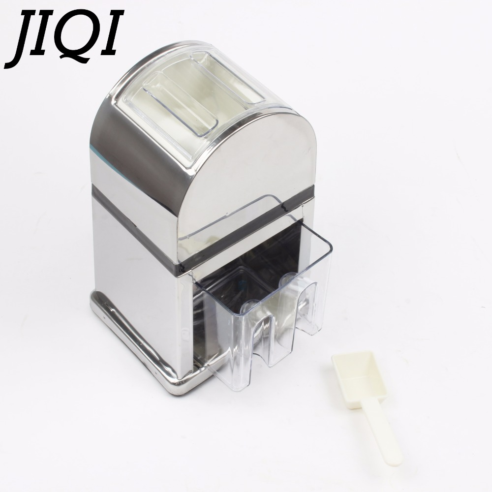 Stainless Steel Ice Crusher Mini Ice shavers Chopper Manual Snow Cone Smoothie Maker Ice Block Breaking Machine slush machine jiqi electric ice crusher shaver snow cone ice block making machine household commercial ice slush sand maker ice tea shop eu us