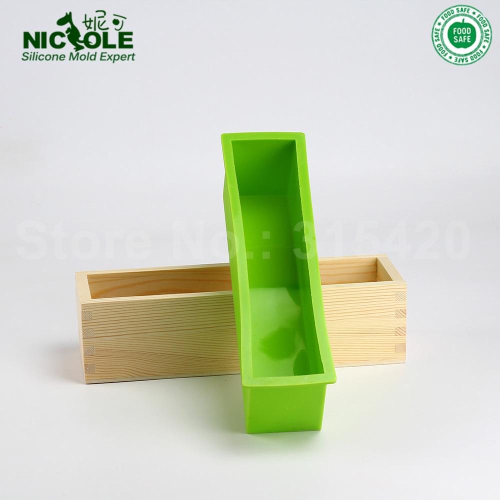Silikonski kalup za izradu sapuna Alat Set-4 podesivi drveni štruca - Umjetnost, obrt i šivanje - Foto 4