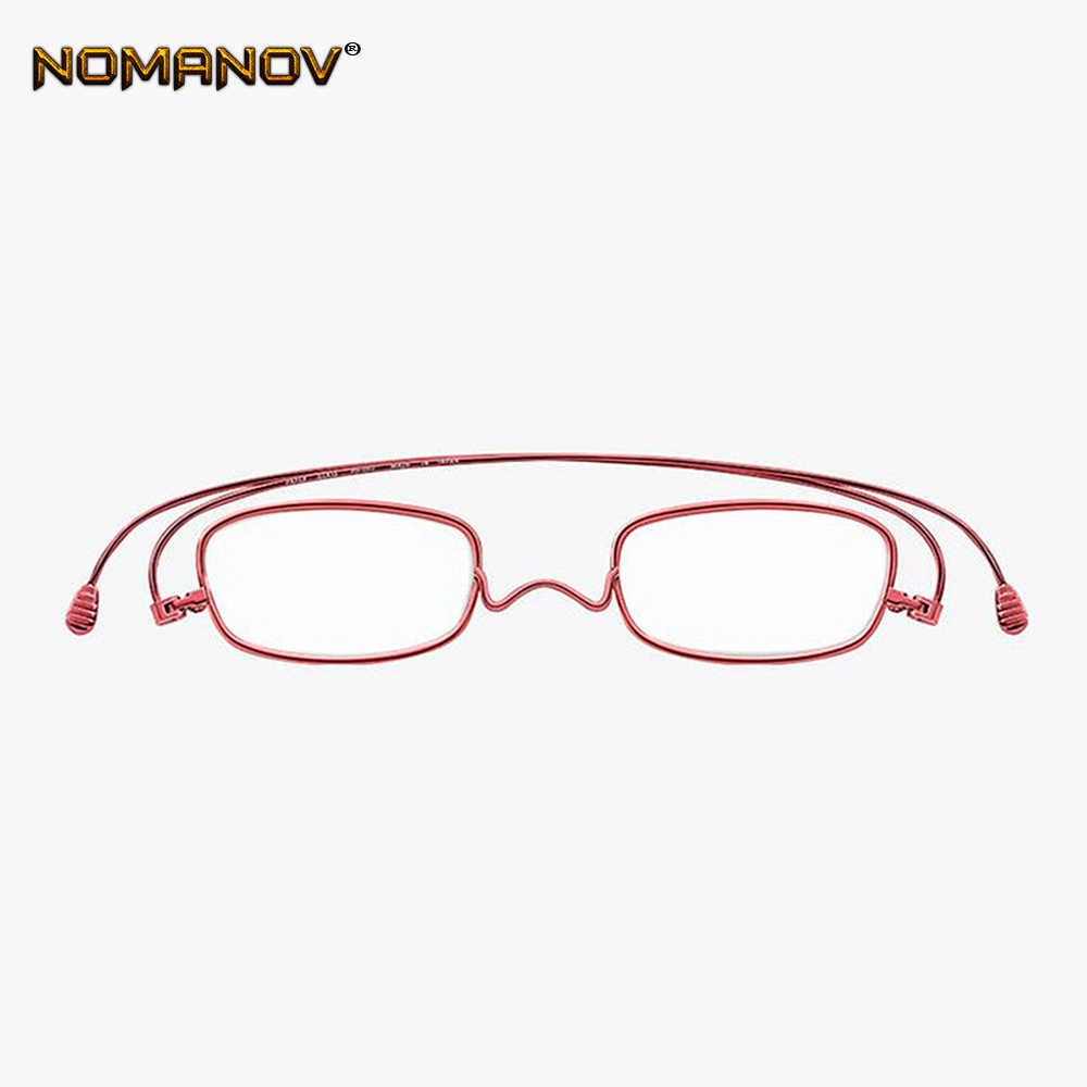 Модный бумажный ультра-тонкий вращающийся портативный складной Сверхлегкий анти-blu для мужчин и женщин очки для чтения + 0,75 + 1,25 + 1,5 + 2,00 + 1,75 до + 4