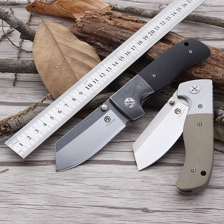 Petrified fish Knife PF-710 AUS-8 steel blade outdoor survival rescue folding knife field practical sharp Tactics Pocket knife цена 2017