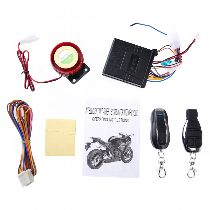 New Motorcycle Bike Anti-theft Security Alarm System Remote Control Engine Start 12V Anti-line Cutting CSL2017