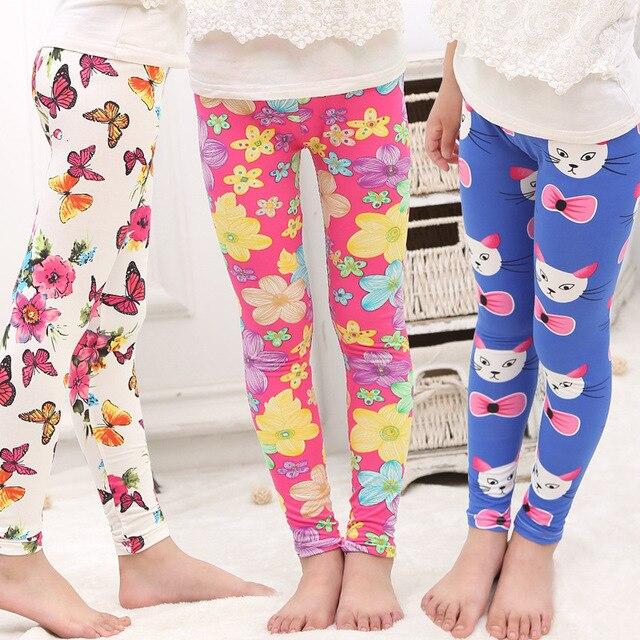 e97de9a1b2847f 2017 Hot & New spring and summer children's printing milk silk leggings  girls big virgin pantyhose Leggings