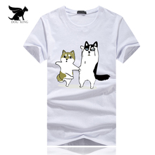 2017 men's t shirt Funny Dog Printed Hipster t-shirt homme man cotton Short Sleeve Tops Black Male Streetwear camiseta masculina