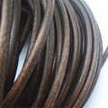 5 Yards 5mm Round Darl Brown Genuine Real Soft Leather Cord Fine Jewelry Findings
