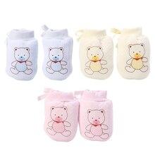 Милые детские варежки с защитой от царапин для маленьких мальчиков и девочек, мягкие варежки для новорожденных, подарки