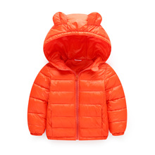 10 Color 2017 New autumn and winter children feather coat boy thin jacket and infant baby thick jacket