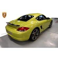 For Porsche Cayman Cayman S Rear Spoiler Trunk Tail Wing Carbon Fiber Fiberglass FRP Material rear trunk lid for Porsche 987