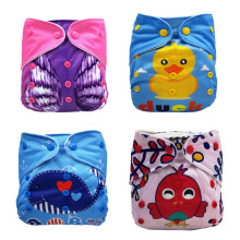 1pcs Cute Animal Cartoon Baby Diapers Washable Reusable Nappies Grid/Cotton Training Pant Cloth Diaper Summer Version
