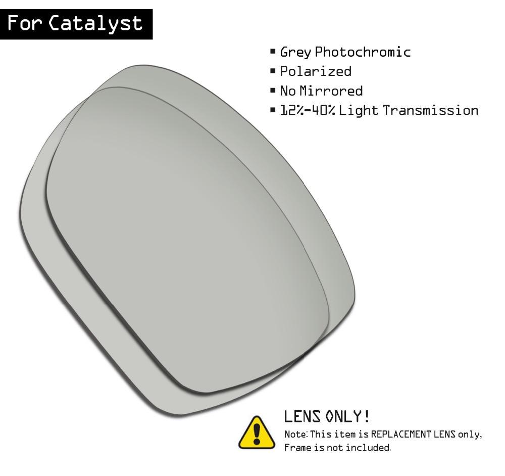 SmartVLT Polarized Sunglasses Replacement Lenses for Oakley Catalyst - Grey Photochromic