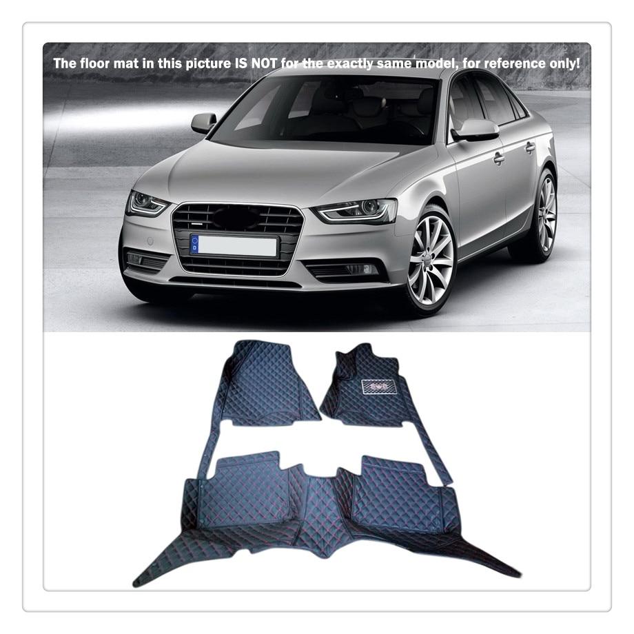 Custom car floor mats for audi a4 b8 2008 2009 2010 2011 2012 2013 2014 2015