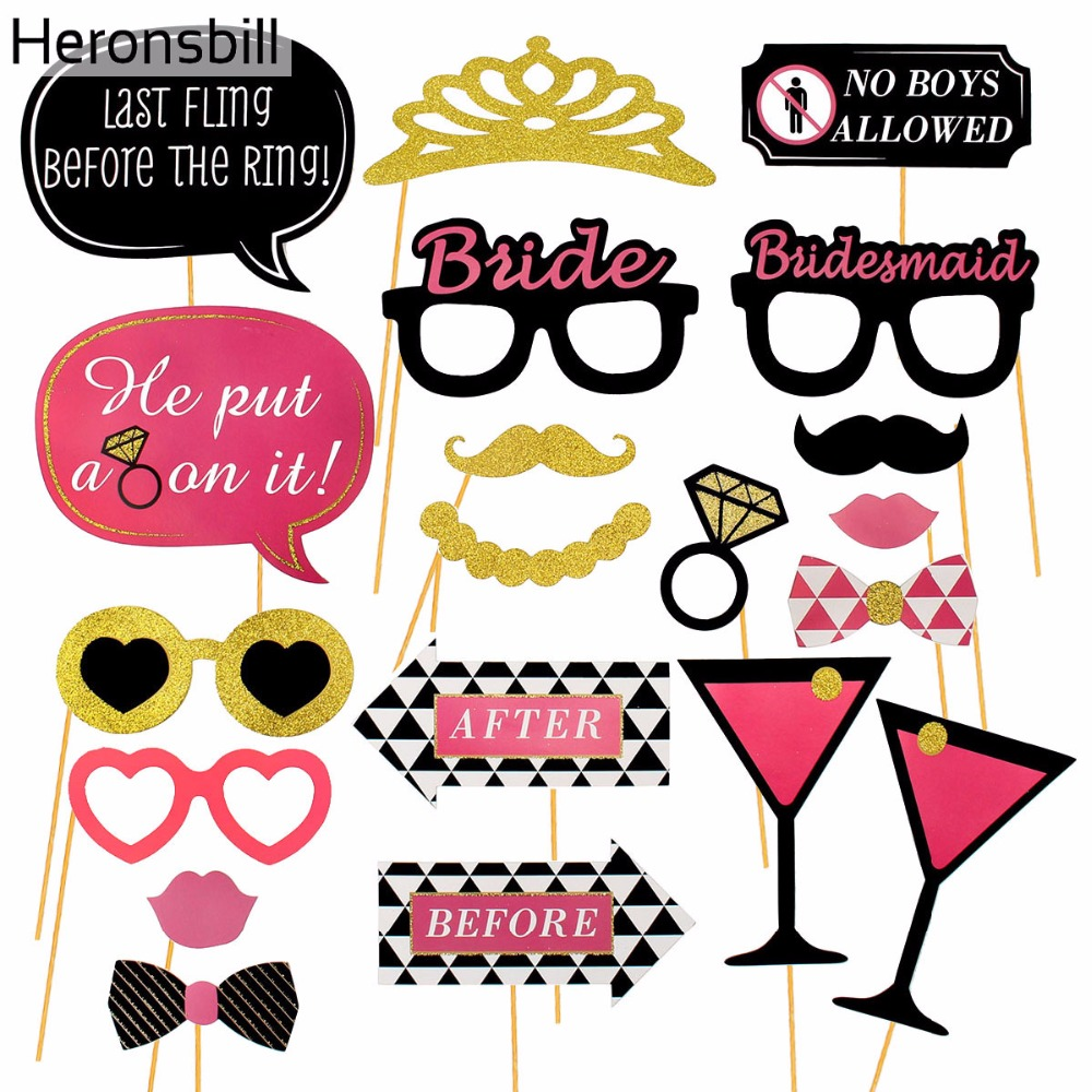Hen Party Ideas For Small Groups: Heronsbill 20 31Pcs Photo Booth Props Hen Bachelorette