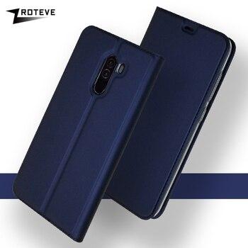 Xiaomi Pocophone F1 Case Cover Flip Leather Wallet Poco F1 Case Stand Leather Magnetic Cover Xiaomi F1 Pocofone F1 Cases 6.18