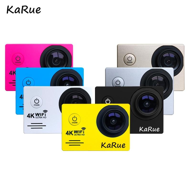 KaRue 1PCS Sport Action Camera WiFi Ultra HD 4K Underwater 30M Waterproof Outdoor Sports Camera 2.0 LCD 1080p 60fps Camera