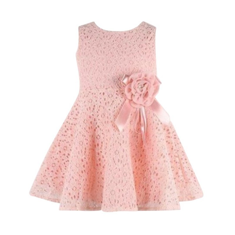 Kids Girls Clothes Flower Dresses Summer Toddler Baby Girls Lace Floral Dress Party Princess Dresses For Girls Vestido iyeal kids dresses for girls clothes purple flower princess dress 2017 girls summer dress children clothing vestido princesa
