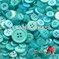 100 г Смешанные пуговицы около 200 шт набор пуговиц и размеров модная пуговица кнопки для рукоделия и DIY кнопки скрапбукинга аксессуары - фото