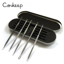 Cankeep 5pc/Set Antibacterial Acne Needle Removal Kit with Box Acne Pimple Extractor Blackhead Blemish Black Head Removal Tools