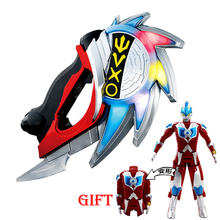 prettyangel genuine bandai tamashii nations s h figuarts exclusive ultraman orb ultraman orb thunder breastar action figure Transformation Ultraman Orb Serrated Blade Light Up Model Toy LED Knight Music Kids Christmas Gifts Toys for Children