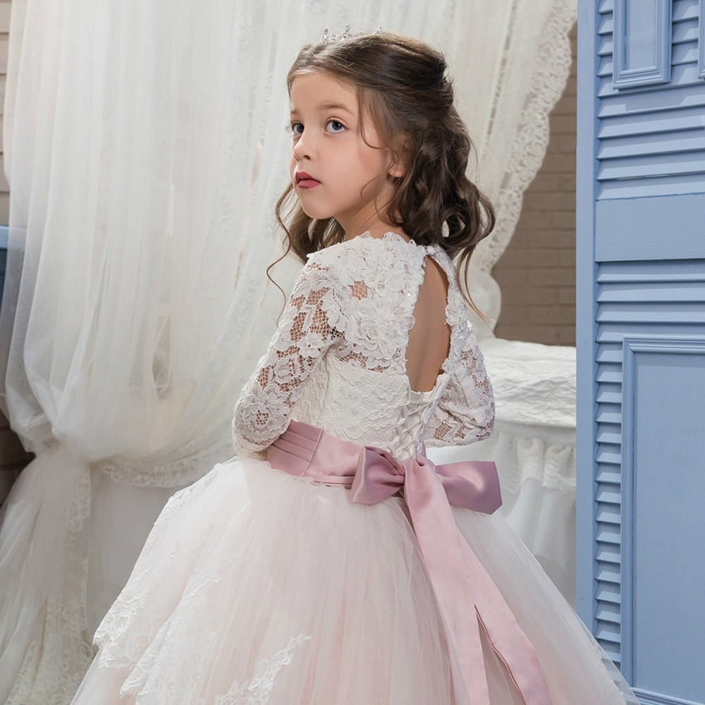 S Dress Children Kids Formal Wear Princess Baby Wedding Clothes For Age 2 3 4 5 6 7 8 9 10 12 13 Years Old In Dresses From Mother