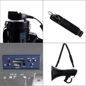 Image 3 - Portable Megaphone 50 Watt Power Megaphone Speaker Bullhorn Voice And Siren/Alarm Modes With Volume Control And Strap