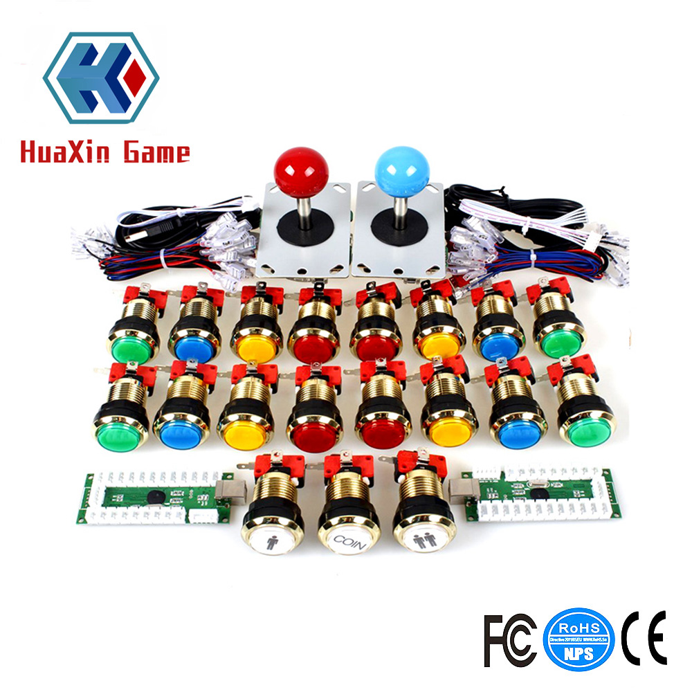 2 player Arcade Game DIY Accessories Kit for PC and