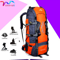 80L Large Capacity Outdoor Climbing Bag Sports Bag Camping Mountaineering Trekking Daypack Waterproof Travel Hiking Backpack