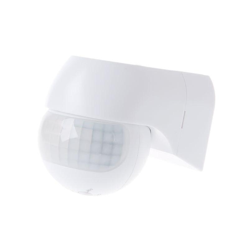 Nfrared zewnętrzny czujnik ruchu do pomieszczeń wodoodporny automatyczny wykrywacz PIR 30m odległość wykrywania obrót regulowane światło timer