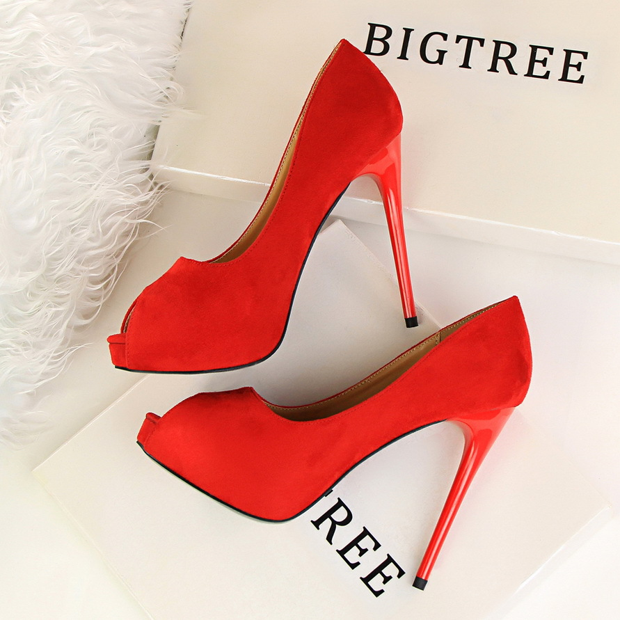 Summer Platform Sandals Women High Shoes Open Toe Pumps Thin Heeled Suede High Heels Shoes Sexy Single Female Shoes G1675-2 nayiduyun summer wedge high heels women casual platform pumps round toe breathable summer sneakers sandals school shoes chic