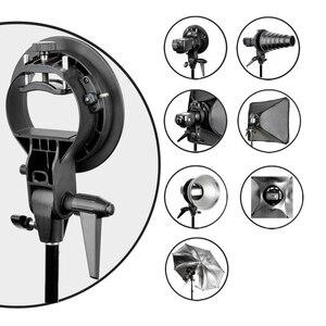 Image 2 - PRO Godox S Type Durable plastics Bracket Bowens Mount Holder for Speedlite Flash Snoot Softbox Photo Studio Accessories