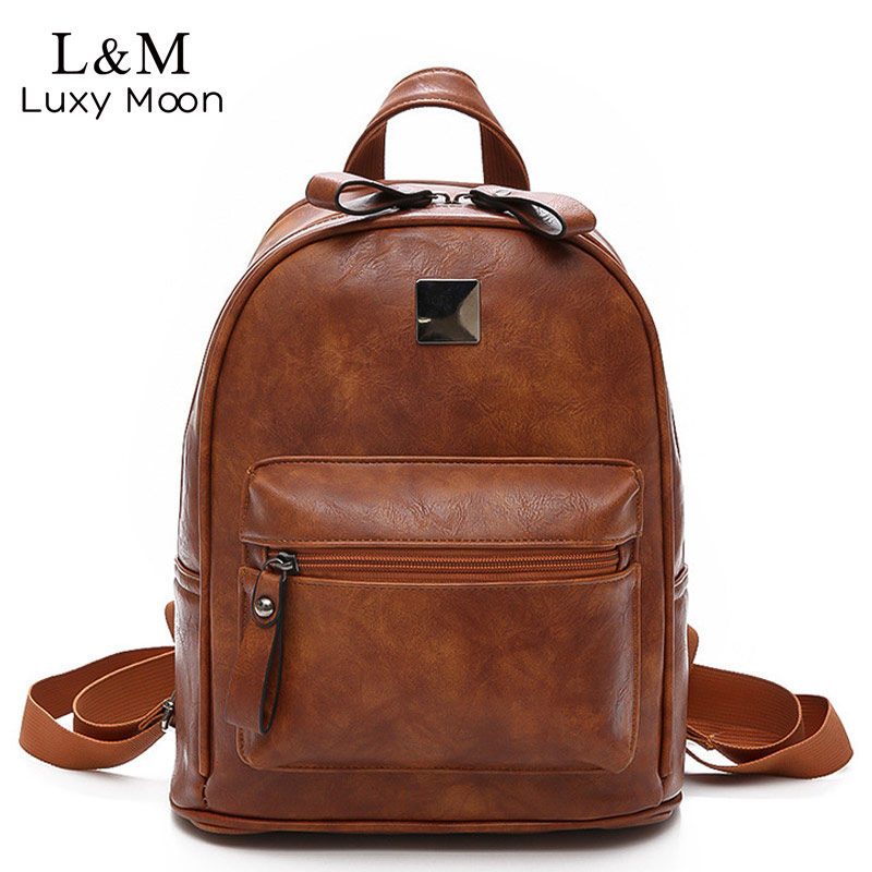 New Soft PU Leather Women Backpack Fashion Girl School Bag Good Quality Lady Bags Simple Style Female Vintage Backpack XA1190H women pu leather backpack mansur lady leather backpack girl leather school bag free shipping fashion girls bag