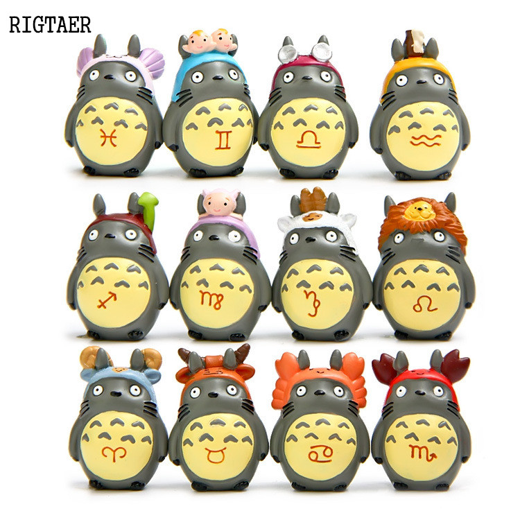12 pcs Studio Ghibli Miyazaki Hayao Standing 12 constellations novice DIY doll ornaments action & toy figures doll Kids Toys