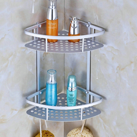 New Storage Holder Rack Organization Shelf Bathroom Towel Storage Rack Holder Baskets Stainless Steel Double Layer