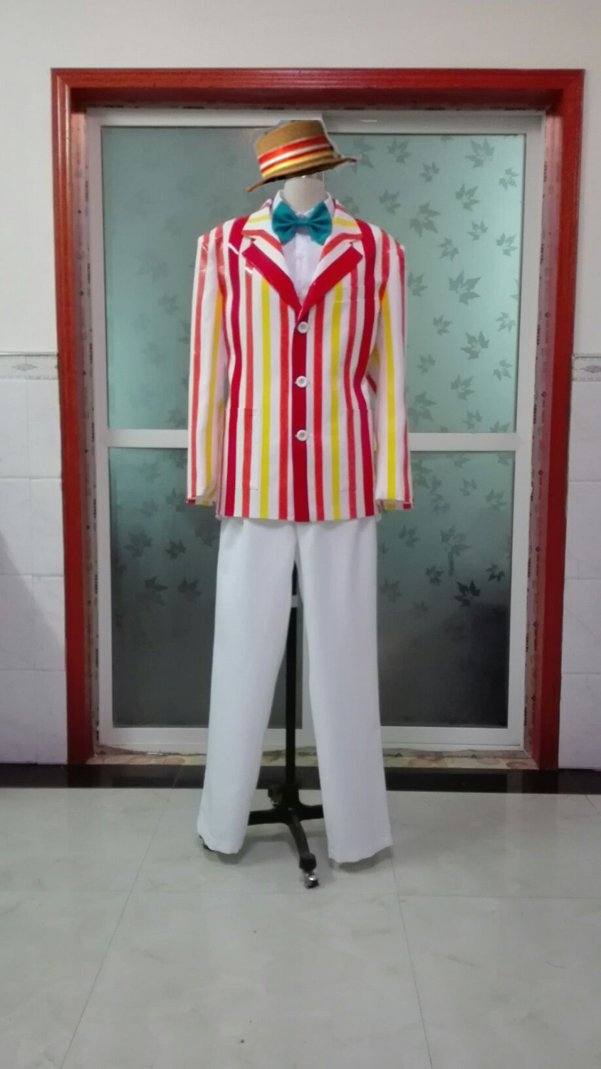 Mary Poppins Bert Cosplay Costume Clothes Movie Character