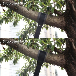 Image 2 - 2 עץ נדנדה רצועות תליית ערכת מחזיק מקסימום 2200 LB עם שתי טבעות מתכת כבדות קמפינג ערסל אביזרי מוצקות חיצוני