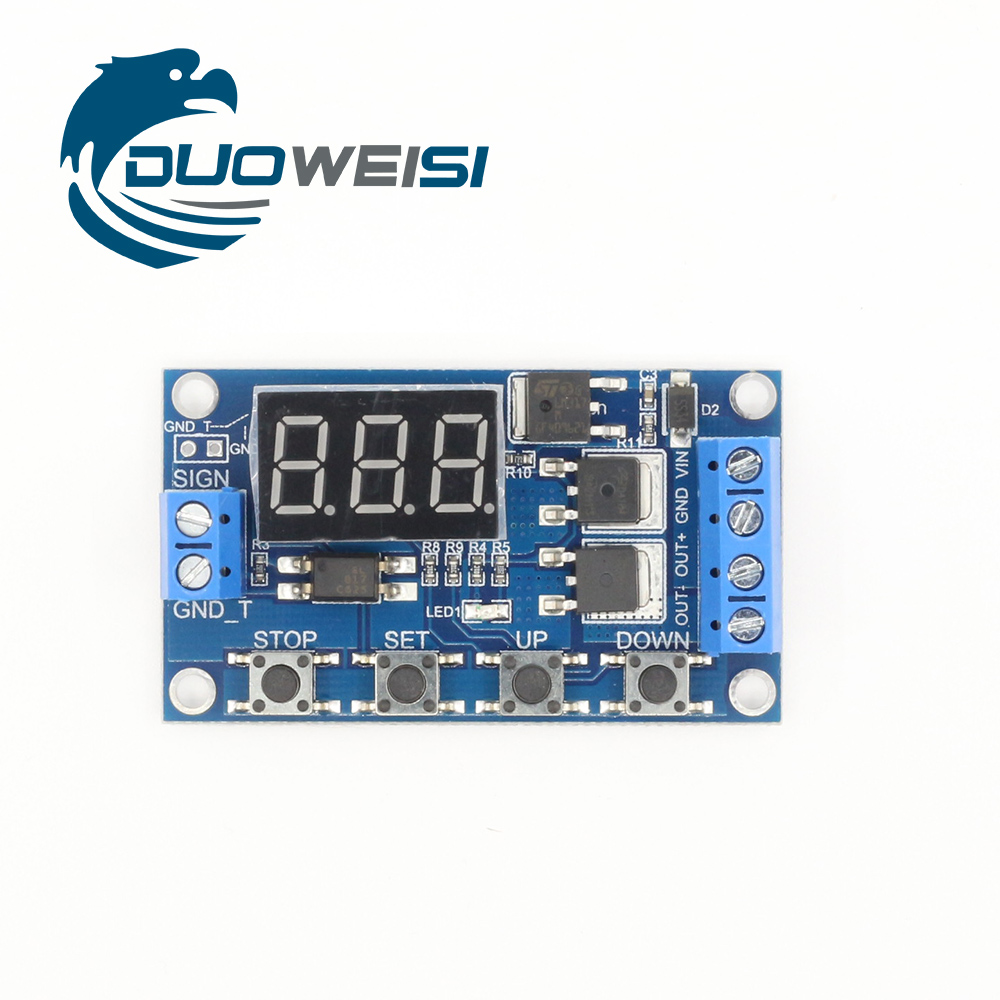 Dual Mos 5 36v Control Delay Relay Trigger Cycle Timing 12v 24v On Timer Switch Circuit