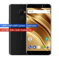 Ulefone S8 Pro 4G Smartphone Dual Rear Cameras MTK6737 Quad Core Android 7.0 2GB+16GB 13MP Fingerprint 5.3 Inch Cellphone
