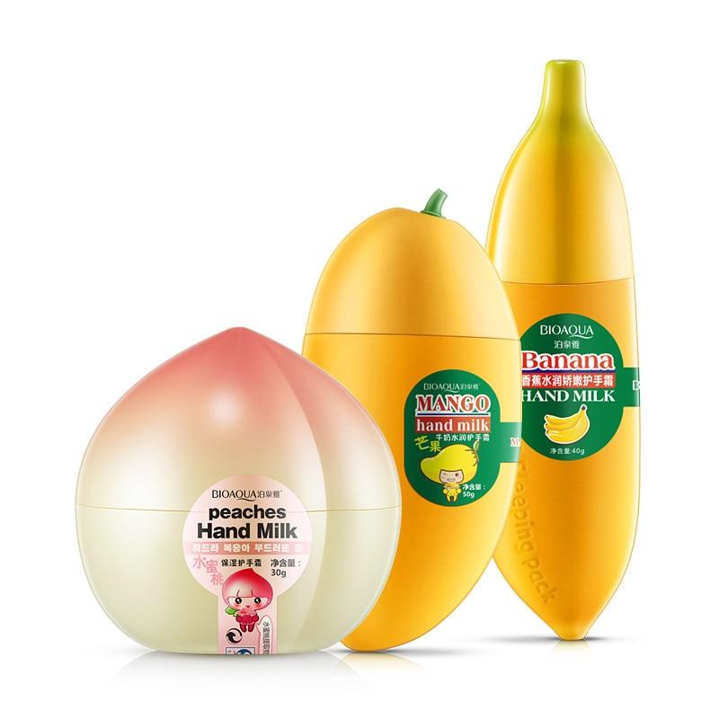 BIOAQUA Peaches/Banana/Mango Hand Moisturizing Hand Cream Moisture Nourishing Anti Chapping Oil Control Hand Care